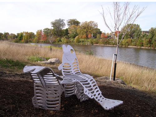 Être rivière, 2008. Parc linéaire de la rivière Saint-Charles.